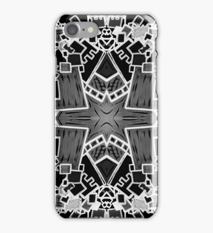Tate - Created by a Genius (Square/Sym/BW) iPhone Case/Skin