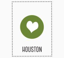 I Love Houston One Piece - Short Sleeve
