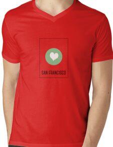 I Love San Francisco Mens V-Neck T-Shirt