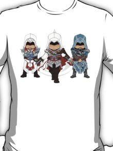 Ezio Auditore da Firenze Chibi Assassin Trio T-Shirt