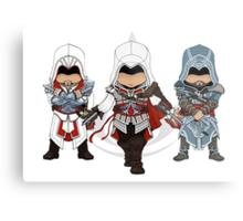 Ezio Auditore da Firenze Chibi Assassin Trio Metal Print