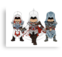 Ezio Auditore da Firenze Chibi Assassin Trio Canvas Print