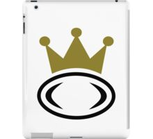 Rugby crown champion iPad Case/Skin