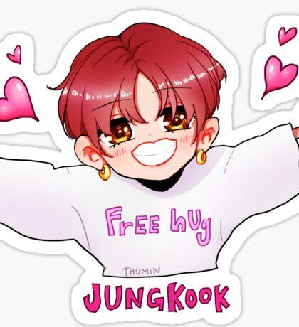 BTS JUNGKOOK HUG Sticker