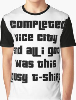 Grand Theft Auto Vice City 100% Reward Graphic T-Shirt