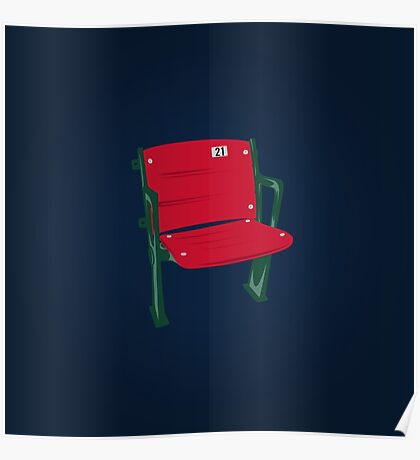 The Lone Red Seat - Red Sox - Fenway Park Poster
