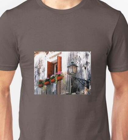 Balcony With Flower Boxes - Taormina,  Sicily T-Shirt