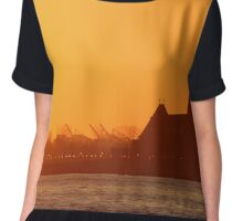 River Sunset Chiffon Top