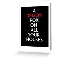 Demon Pox Greeting Card