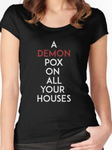 Demon Pox Women's Fitted Scoop T-Shirt