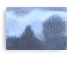 Winter Skyline- Blue Haze Canvas Print