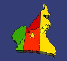 Cameroon Map With Flag of Cameroon Unisex T-Shirt