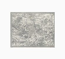 Vintage Map of Paris France Vicinity (1841) Unisex T-Shirt