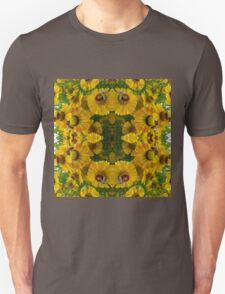 Golden Flowers and Bees Unisex T-Shirt