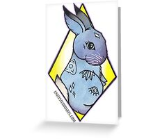 Easter Bunny takes Halloween Greeting Card