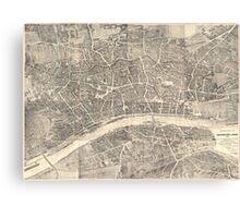 Vintage Map of Frankfurt Germany (1864) Canvas Print