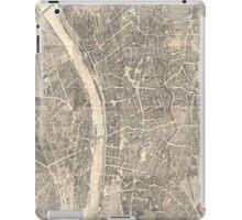 Vintage Map of Frankfurt Germany (1864) iPad Case/Skin