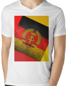 EAST GERMANY Mens V-Neck T-Shirt