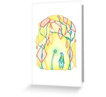 Glowing Flower Crystals Greeting Card