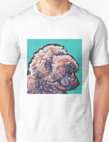 Labradoodle Golden Doodle Dog Bright colorful pop dog art Unisex T-Shirt