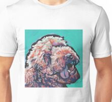 Poodle Labradoodle Golden Doodle Dog Bright colorful pop dog art Unisex T-Shirt