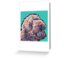 Labradoodle Golden Doodle Dog Bright colorful pop dog art Greeting Card