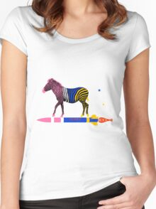 Zebra Rock It 16A Women's Fitted Scoop T-Shirt