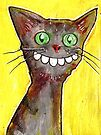 Derp Cat on Yellow by byronrempel