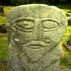 Janus man, celtic god, photographic card by Aine MacAodha