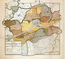 Vintage Map of Frankfurt Germany (1905) Photographic Print