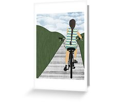 Cyclist From Behind Greeting Card