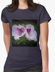 Geranium Flowers Womens Fitted T-Shirt