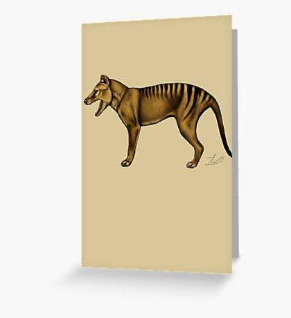Thylacine Greeting Card