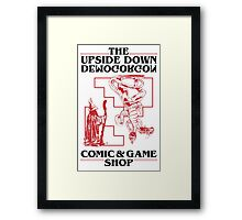 The Upside Down Demogorgon - Stranger Things Have Happened Framed Print