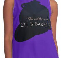 """""""Sherlocked"""" 221 B Baker Street Contrast Tank"""
