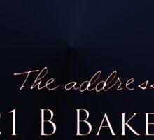 """""""Sherlocked"""" 221 B Baker Street Sticker"""