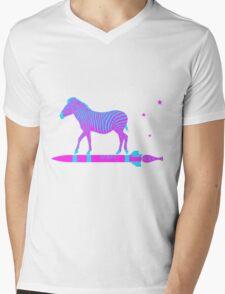Zebra Rock It 10A Mens V-Neck T-Shirt