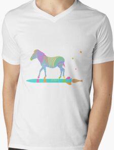 Zebra Rock It 8A Mens V-Neck T-Shirt