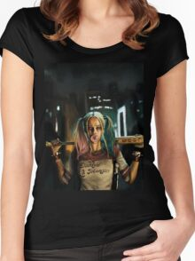 Harley Quinn Suicide Squad Women's Fitted Scoop T-Shirt