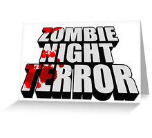ZOMBIE NIGHT TERROR - LOGO Greeting Card
