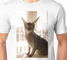 The Cat with Long Ears. Unisex T-Shirt