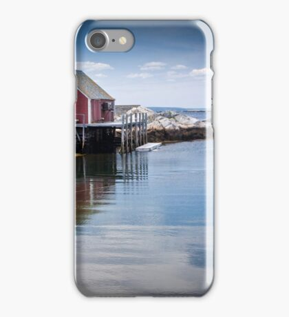 Peggy's Cove through a lobster pot iPhone Case/Skin