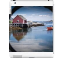 Peggy's Cove through a lobster pot iPad Case/Skin