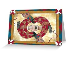 Rattlesnake Disc Greeting Card