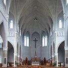 St. Benard Church, Nova Scotia by Harv Churchill