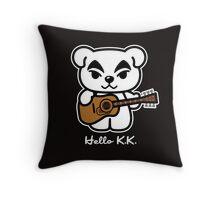 Hello K.K. Throw Pillow
