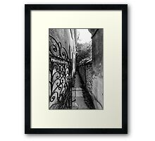 Pirates Courtyard Framed Print
