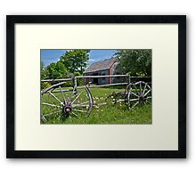 Old Wagon and Shed, Grand Pre, Nova Scotia Framed Print