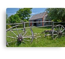 Old Wagon and Shed, Grand Pre, Nova Scotia Canvas Print