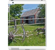 Old Wagon and Shed, Grand Pre, Nova Scotia iPad Case/Skin